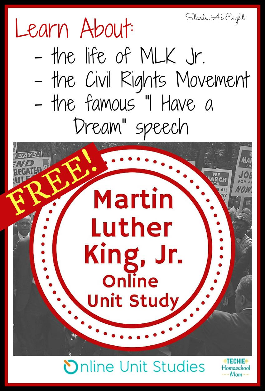 FREE MLK Jr. Online Unit Study