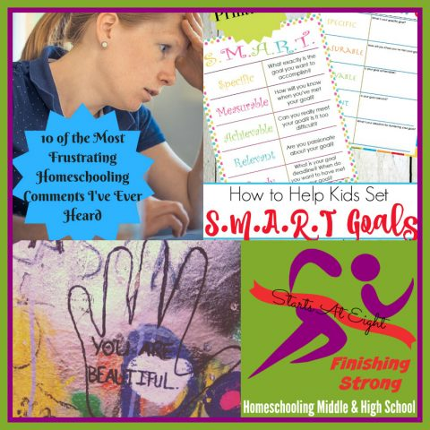 Finishing Strong ~ Homeschooling the Middle & High School Years #109 from Starts At Eight
