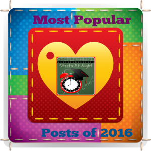 Most Popular Starts At Eight Posts of 2016 includes FREE Printables, Homeschool High School Help, Art Projects, Math Games and more!
