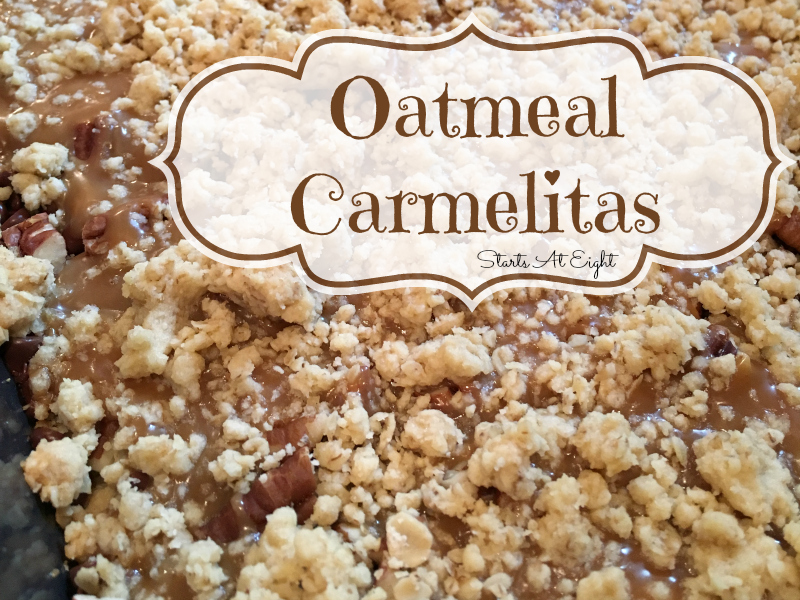 Oatmeal Carmelitas Recipe from Starts At Eight