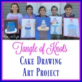 Tangle of Knots Cake Drawing Art Project