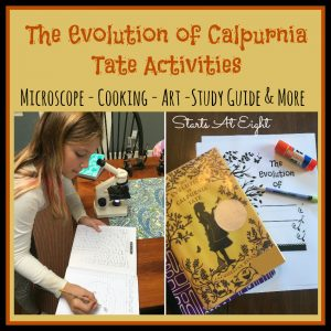 The Evolution of Calpurnia Tate Activities from Starts At Eight. All things Evolution of Calpurnia Tate. Calpurnia Tate discussion questions, vocabulary, study guide, microscope activities, free printables, art project and more!