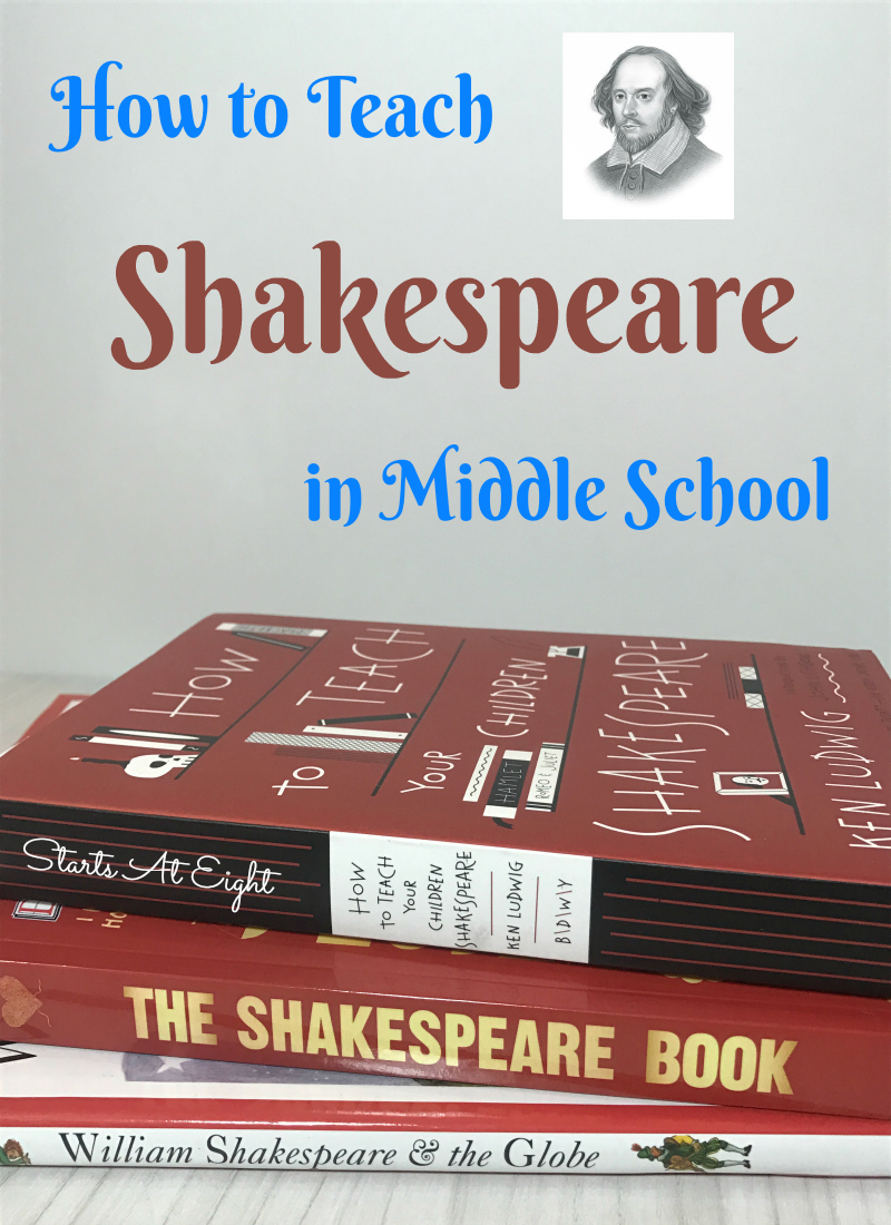 How to Teach Middle School Shakespeare from Starts At Eight. Teaching Middle School Shakespeare can be easy and a fun with a few simple resources & a little time spent learning the nuances of Shakespearean Language.