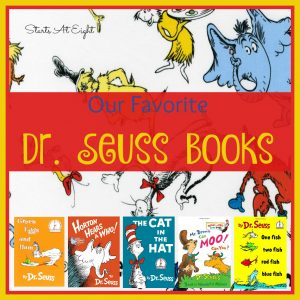 """Our Favorite Dr Seuss Books from Starts At Eight. """"oh the places you'll go!"""" Dr Seuss takes every little kid on a journey. Check out our favorites and some of the activities to go along with them!"""