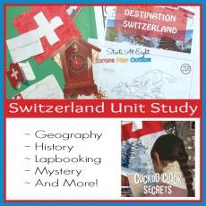 Switzerland Unit Study – History, Geography, a Lapbook & More!