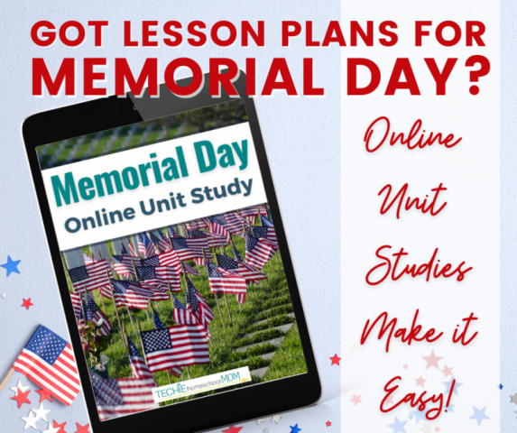 Help your children discover why we celebrate Memorial Day. In this mini online unit study, they will explore the branches of America's Armed Forces, research America's conflicts and casualties, and create a digital image to honor our fallen soldiers.