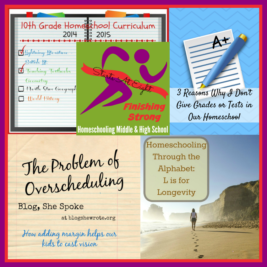 Finishing Strong ~ Homeschooling the Middle & High School Years #122 from Starts At Eight