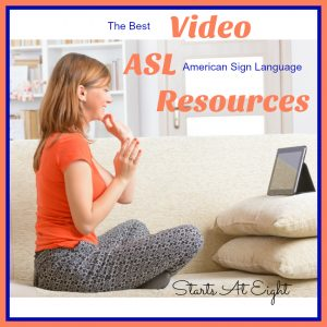 The Best Video ASL Resources from Starts At Eight. Use these FREE and low cost video resources to learn ASL (American Sign Language)