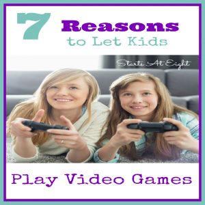 7 Reasons to Let Kids Play Video Games {SPOILER - Video games aren't all bad!} There are many benefits of video gaming for kids.