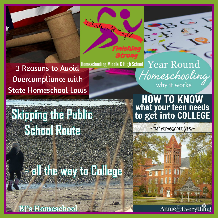 Finishing Strong ~ Homeschooling the Middle & High School Year #128 from Starts At Eight