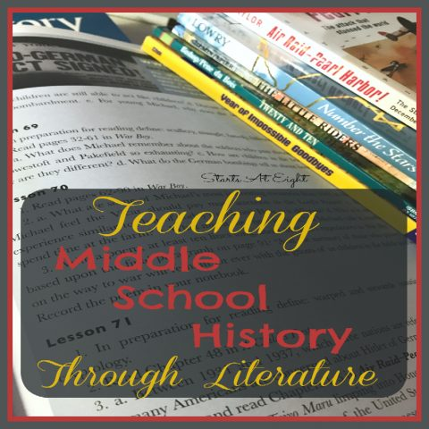 Teaching Middle School History Through Literature from Starts At Eight. Literature is a great way to bring history alive! Beautiful Books offers History Curriculum using literature to make it fun and engaging!