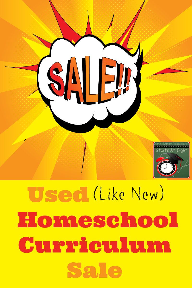 Welcome to my Used (Like New) Homeschool Curriculum Sale. After 11 years it is time to clear out some of our curriculum. Many of these are like new, never written in. The sale will be going on all summer (or until everything is sold)! Be sure to check back in as I will be adding more as I unearth more from the many bins I have been saving!
