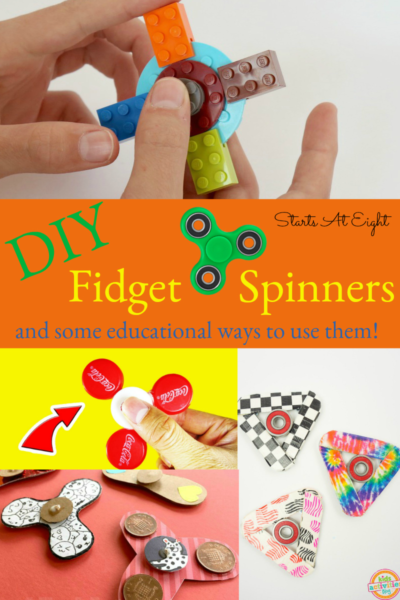 4+ DIY Fidget Spinners - And some educational ways to use them! from Starts At Eight