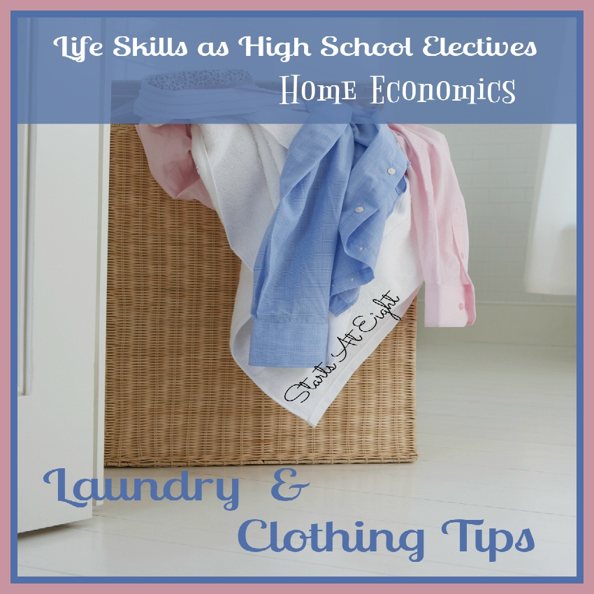 Life Skills as High School Electives: Laundry and Clothing Tips