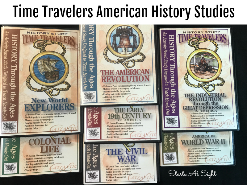 Timeline Based Middle School History {A Two Year American History Plan} from Starts At Eight is a two year plan (including resources) for teaching middle school history with a timeline as the spine.