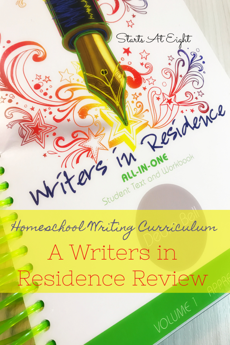 Apologia's Writers in Residence is a homeschool writing curriculum that teaches foundations, uses real life examples & offers evaluation help for parents.