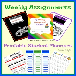 Weekly Assignments Printable Student Planner {Checklist Style}