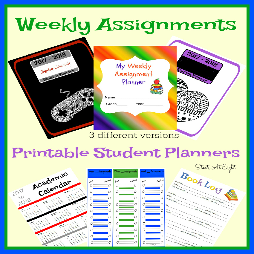 photo regarding Student Agenda Printable identify Weekly Tasks Printable Pupil Planner List