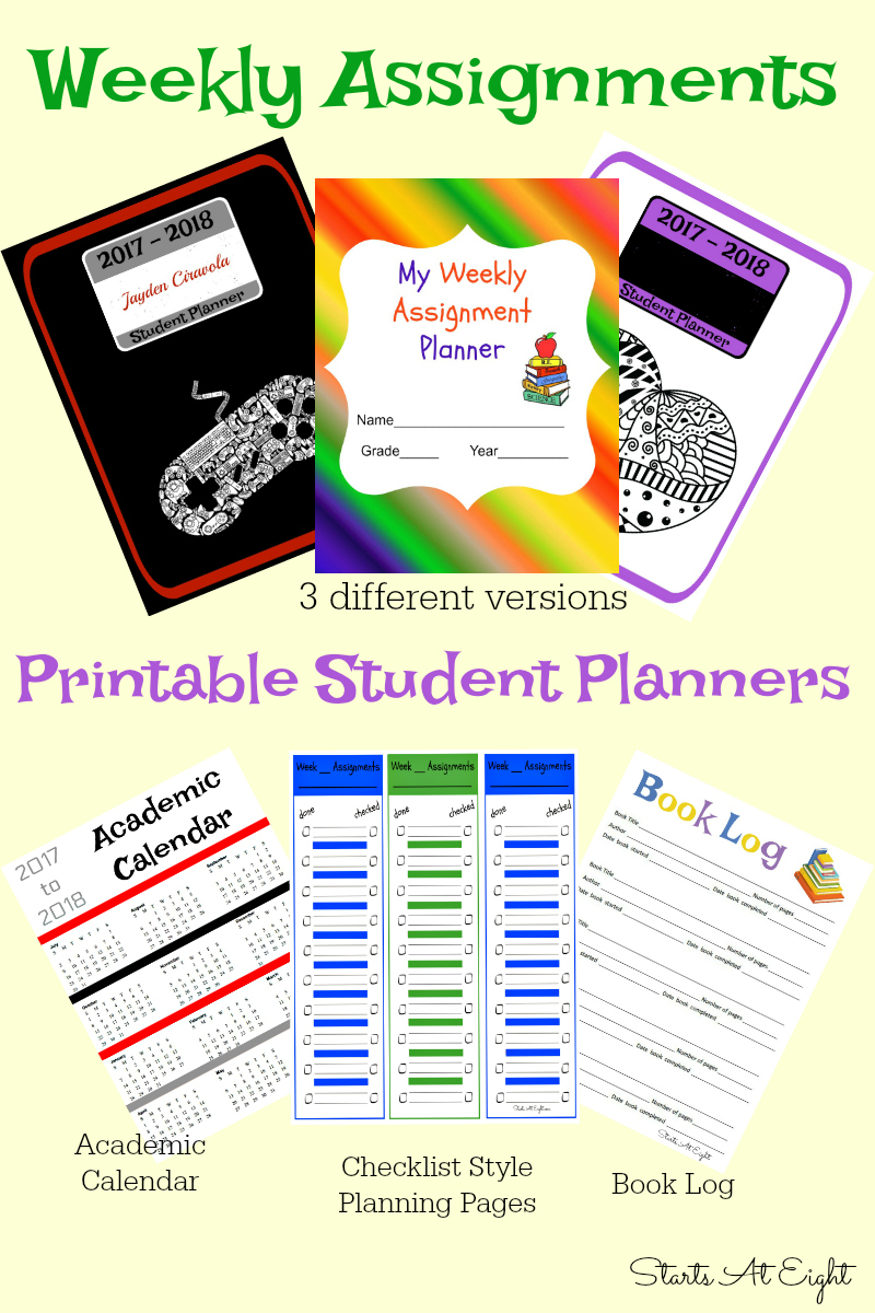 photograph about Student Planner Printable referred to as Weekly Tasks Printable Pupil Planner List