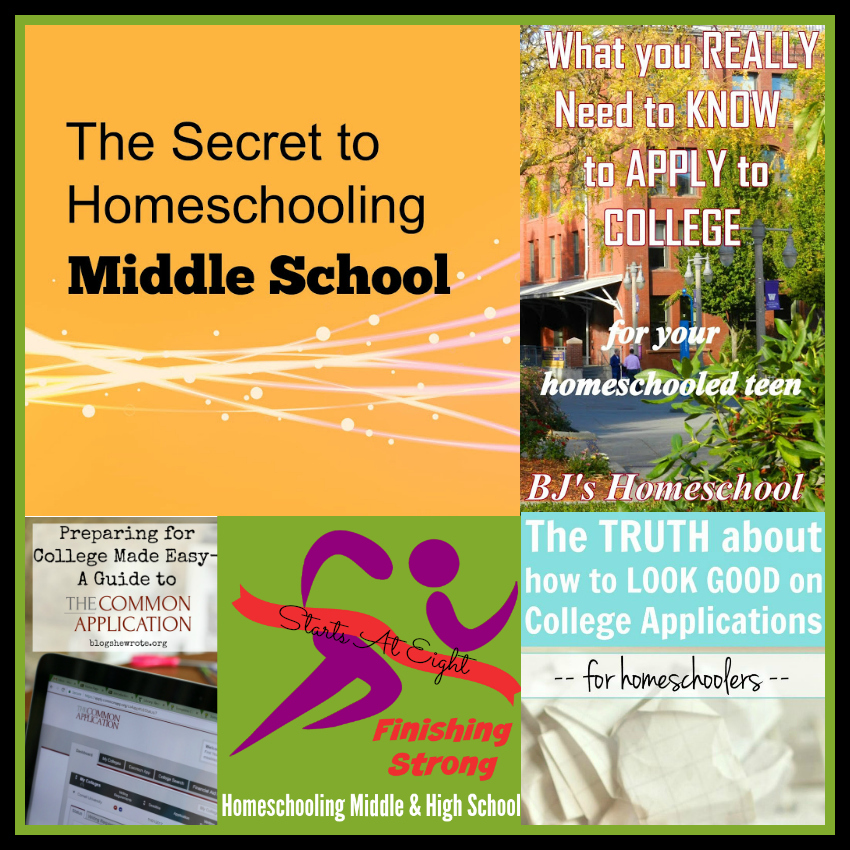 Finishing Strong ~ Homeschooling the Middle & High School Years #134 from Starts At Eight
