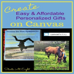 Create Easy and Affordable Personalized Gifts on Canvas {Giveaway}