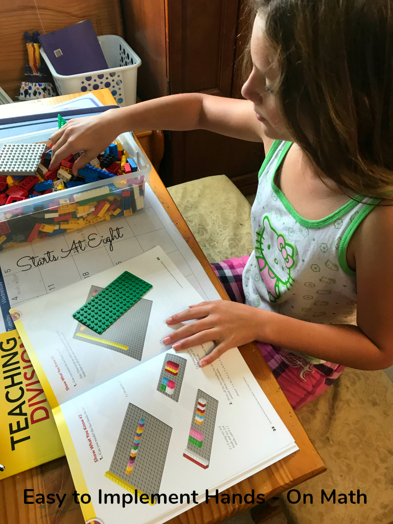 Lego Math: Teaching Multiplication & Division using Lego Bricks is a great way to get hands-on learning to teach math concepts.