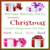 Simplify Christmas Using Categorized Gift Tags: Shop Easier, Spend Less, Find Joy