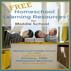 How to Find Free Homeschool Learning Resources for Middle School