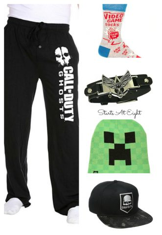 This Gaming Kids Gift Guide from Starts At Eight offers a selection of unique and fun gifts that your little gamers will love! Clothing, trinkets, novelty items and more!