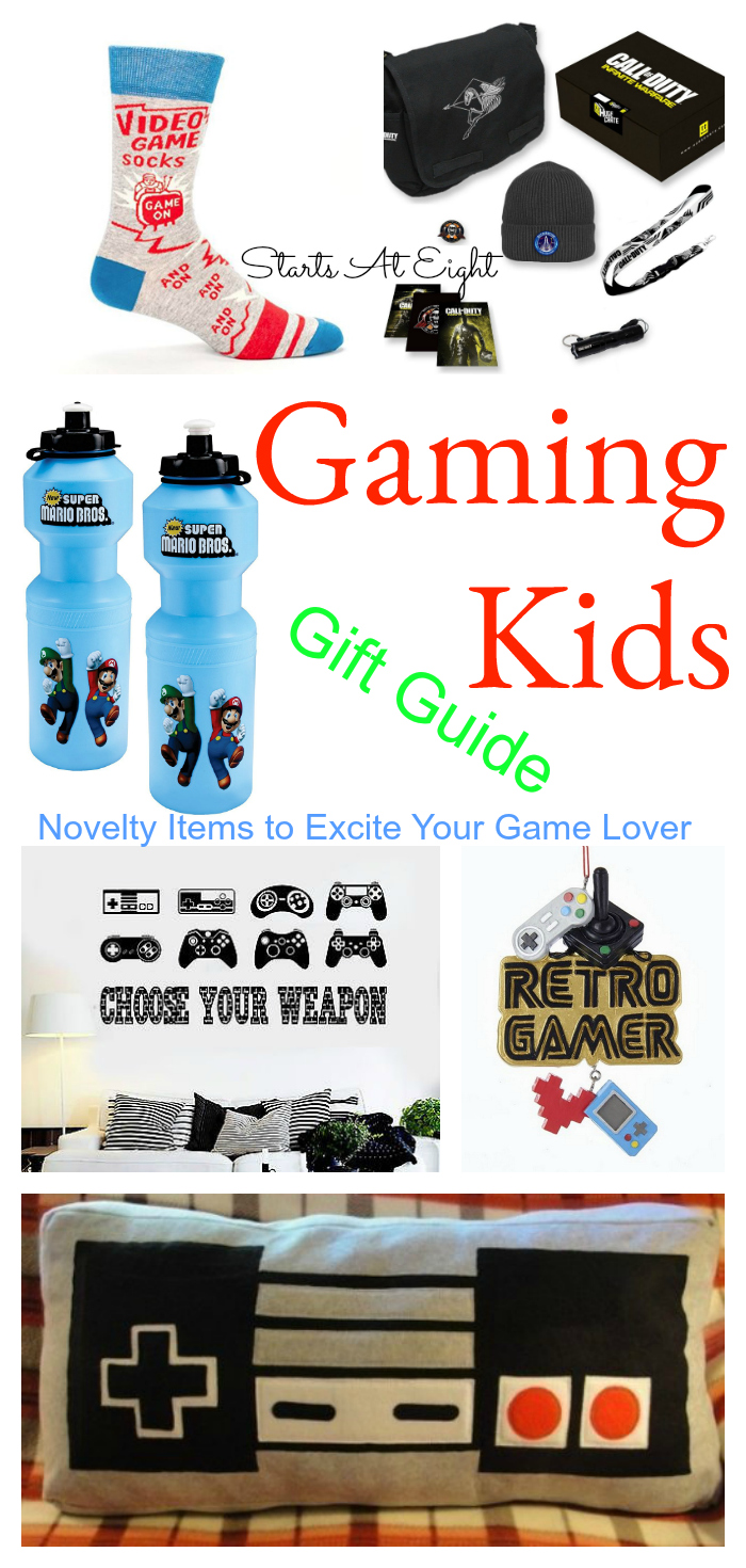 gaming kids gift guide novelty items to excite your game lover startsateight. Black Bedroom Furniture Sets. Home Design Ideas