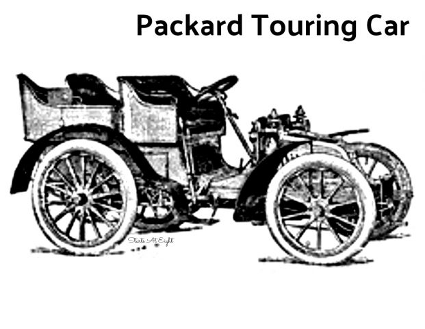 Packard Touring Car Coloring Sheet from Starts At Eight
