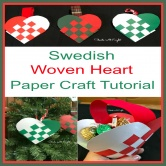 Swedish Woven Heart Paper Craft