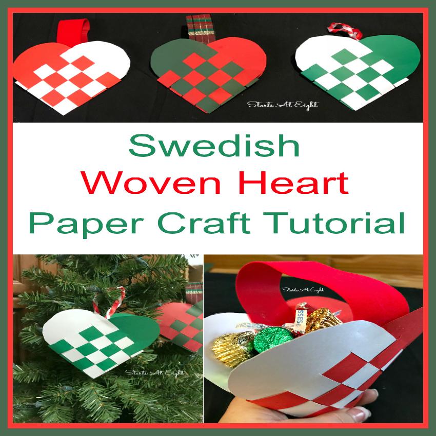 Woven Heart Basket Craft : Swedish woven heart paper craft startsateight