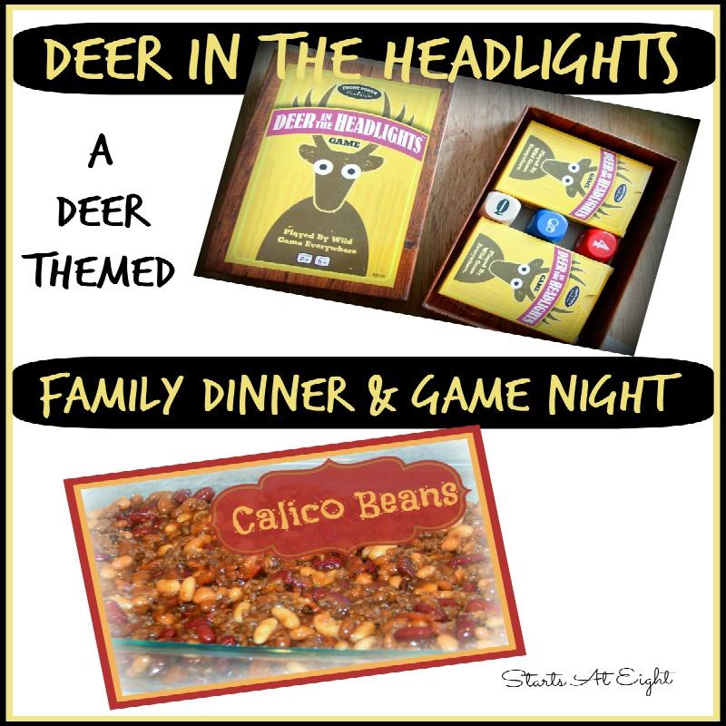 Deer in the Headlights Family Dinner & Game Night