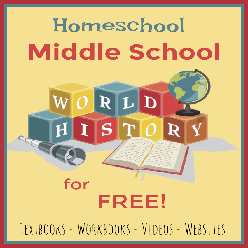 Homeschool Middle School World History for Free - StartsAtEight