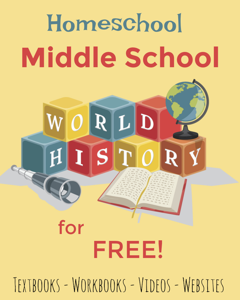 Homeschool Middle School World History for FREE! from Starts At Eight. Homeschool Middle School World History for FREE with these quality resources, includes videos, printables, full text, interactive websites and more!
