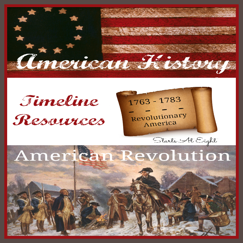 American History Timeline Resources American Revolution