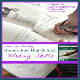 Help for Teaching Homeschool High School Writing Skills