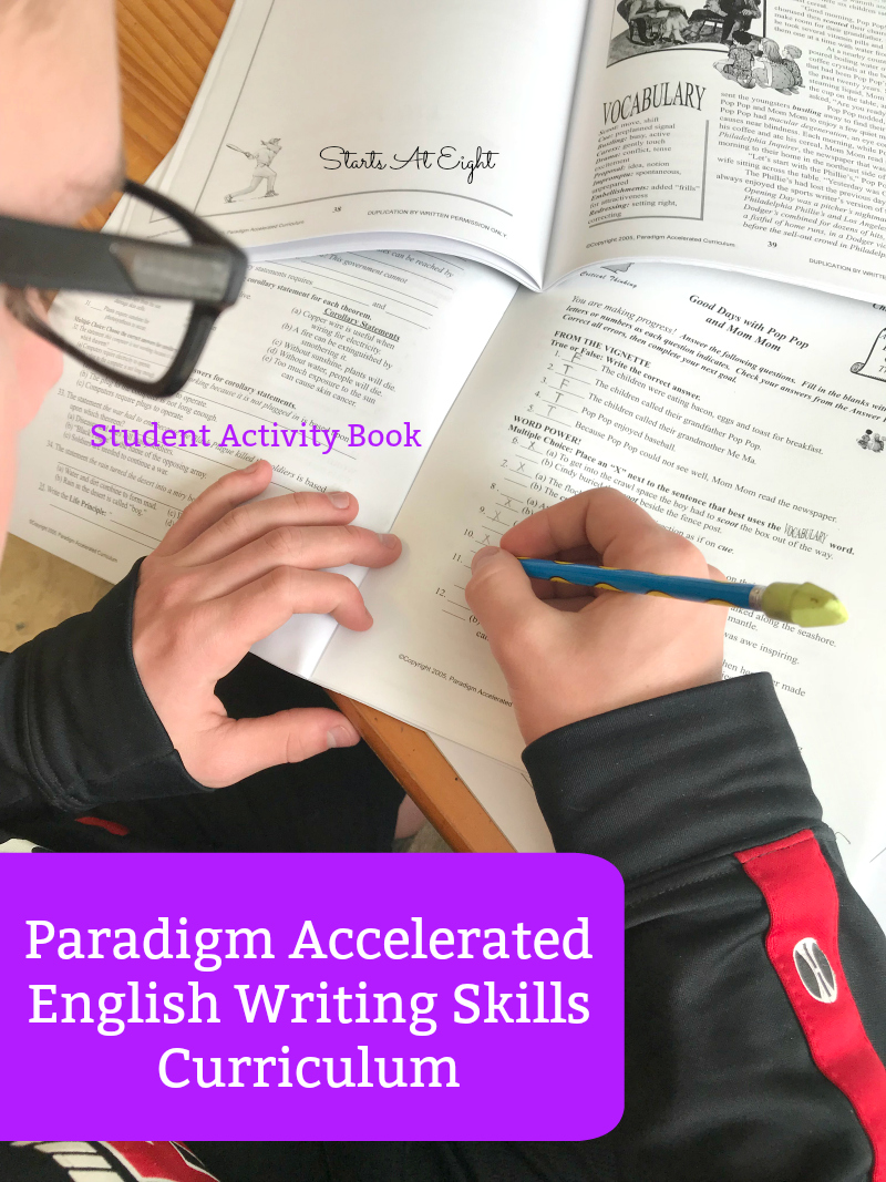Help for Teaching Homeschool High School Writing Skills is as easy as picking up Paradigm Accelerate Curriculum's High School Writing Course: English Writing Skills. It's easy to implement, self-directed and affordable!