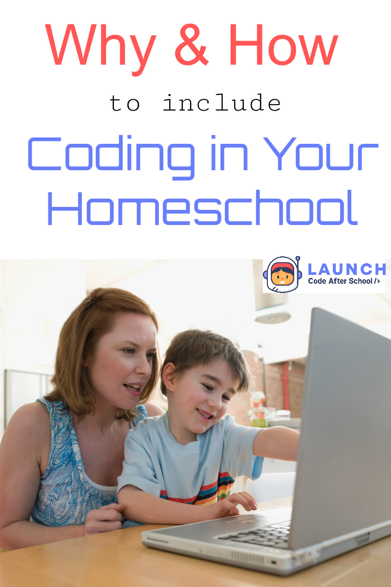 Why (& How) to Include Coding in Your Homeschool from Starts At Eight. Teaching kids coding at a young age has quickly become and important skill that ranks up there after reading, writing, and arithmetic. Let's explore why coding is so important and talk about how to include coding in your homeschool.