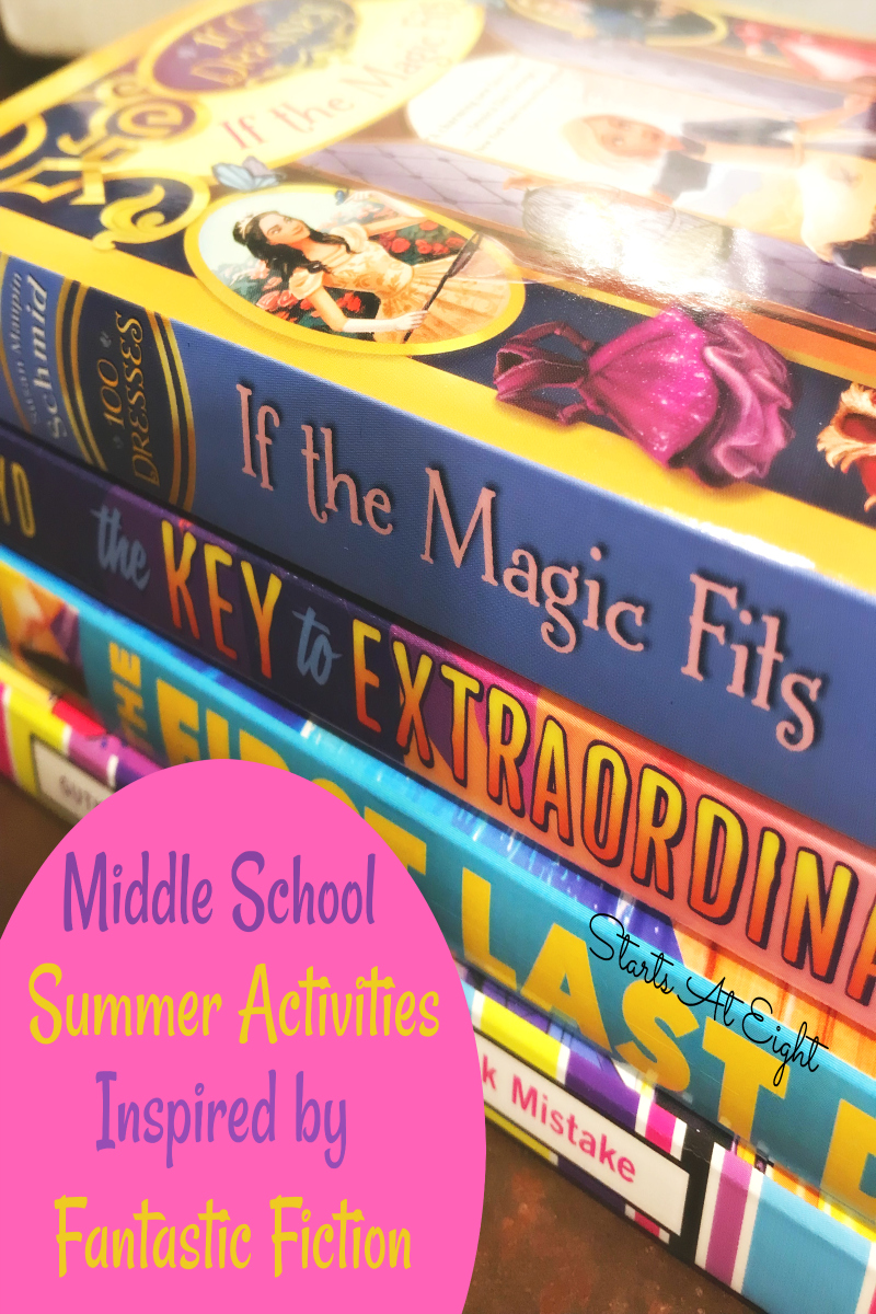 Middle School Summer Activities Inspired by Great YA Books! Think summer bucket list! Think field trips! Think fantastic fiction to inspire it all! That's what this is! Read a great book, adventure out onan awesome related field trip, make an inspired craft or project! Screen free summer fun at its best!