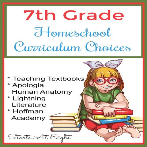 7th Grade Homeschool Curriculum Choices 2018-2019 from Starts At Eight. This is our 3rd round of 7th Grade Homeschool Curriculum. We have old loves like Teaching Textbooks and Lightning Literature and new stuff such as our Timeline Based American History.