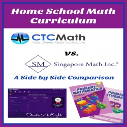 Home School Math Curriculum: CTCMath vs. Singapore Math