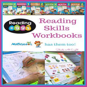 Reading Eggs Reading Skills Workbooks {Mathseeds has them too!}