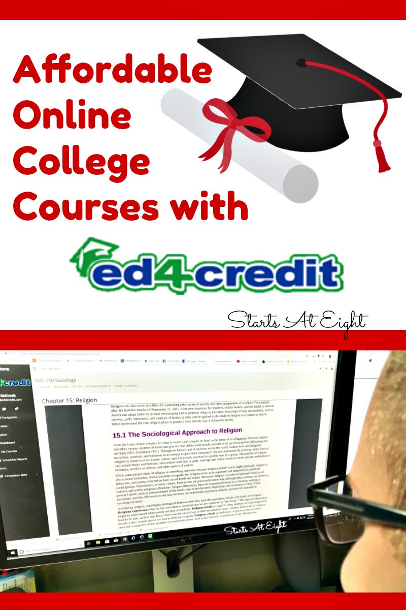 Online College Courses >> Affordable Online College Courses With Ed4credit Startsateight