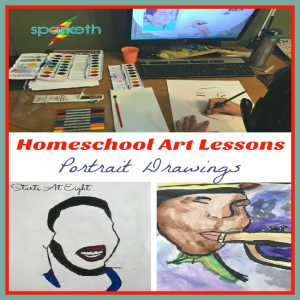 Homeschool Art Lessons: Portrait Drawings