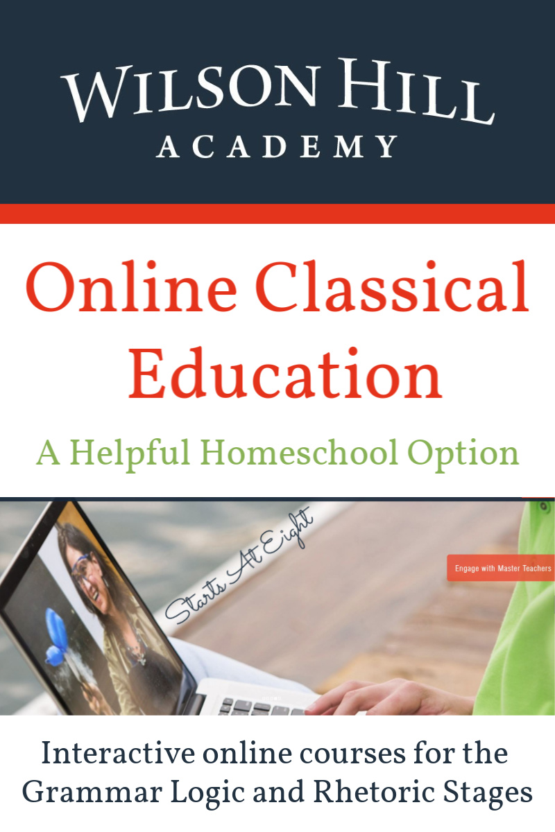 Online Classical Education with Wilson Hill Academy is a simple way to get support for providing a classical education at home. With highly involved teachers in such subjects as Latin, mathematics, history, and more.