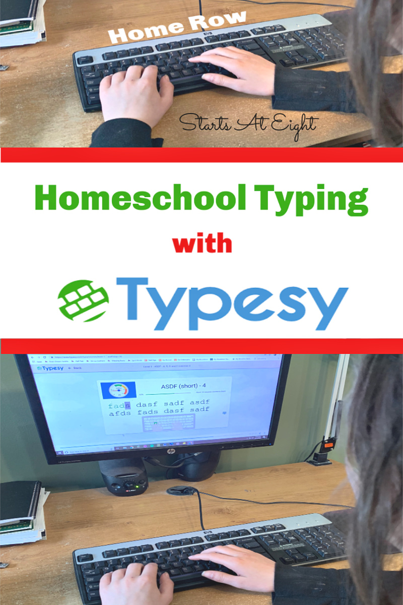 Homeschool Typing with Typesy offers a comprehensive online touch typing program that uses video lessons, computer typing exercises, and fun games to teach basic and advanced touch typing skills. It also offers homeschool parents easy control and monitoring of their child's progress.