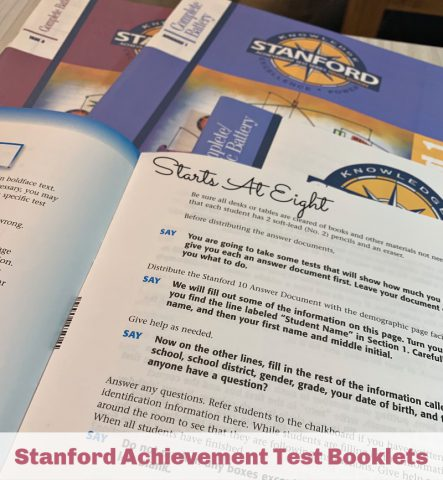 Homeschool Testing with the Stanford Achievement Test. There are many benefits to homeschool testing and in some states it is required. Luckily it does not have to be a stressful process with AT-Home testing.