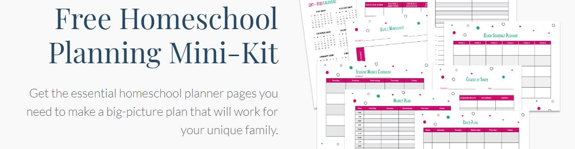 FREE Homeschool Planning Mini Kit